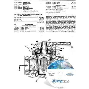 NEW Patent CD for PLUG VALVE WITH A FLEXIBLE PORT PLATE