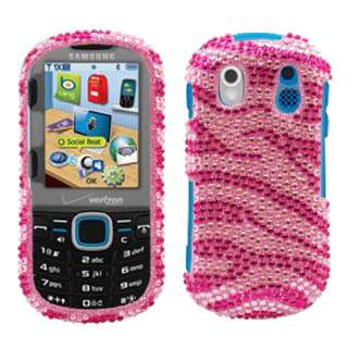 Samsung Intensity II U460 Pink Zebra Hard Case snap on cover