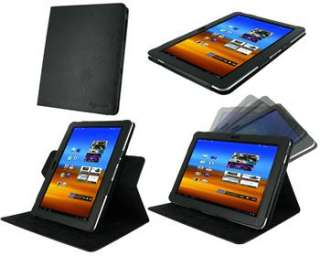 View Leather Folio Case Stand Cover for Samsung Galaxy Tab 10.1