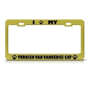 Turkish Van/ Vankedisi Cat Metal License Plate Frame Tag Holder