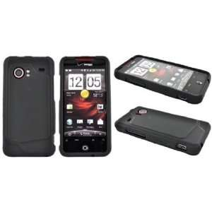 Premium BLACK HTC Droid Incredible 6300 Snap on Plastic Hard Case by