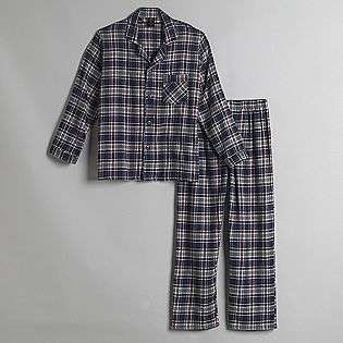 Mens Plaid Flannel Pajamas  Covington Clothing Mens Sleepwear
