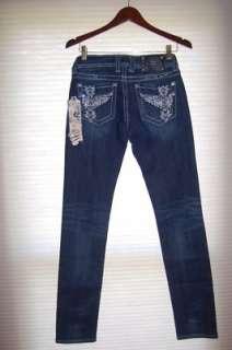 Me Dark Floating Wing Skinny Bradbury Sizes 25 31 Womens Jeans
