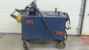 60 Gallon Bulk Oil Distribution Tank Cart Pump 120volt 15amp Portable
