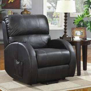 Wildon Home Plains Power Lift Recliner in Black