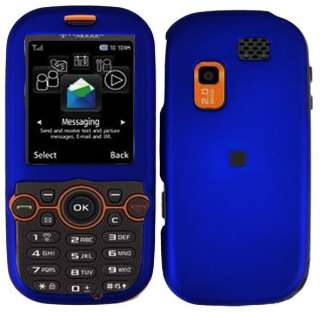 Blue Straight Talk SGH T404G Faceplate Snap on Phone Cover Hard Shell