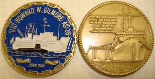 USS Howard W Gilmore AS 16 Submarine Tender Coin USN |