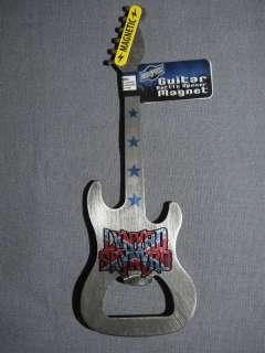 LYNYRD SKYNYRD METAL GUITAR BOTTLE OPENER AND MAGNET