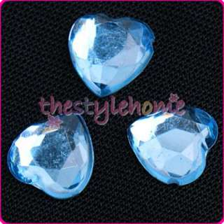 500 Love Crystal HEARTS Wedding Table Decoration   Blue
