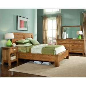 982 Bordeaux Flat Panel Footboard 2 Pc Antique Walnut Bedroom Set Bed Mattress Sale