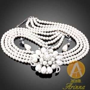 ARINNA Swarovski Crystals fashion earring necklace sets