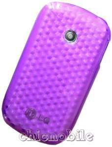 Screen Shield + PURPLE TPU Case Cover TRACFONE LG 800G