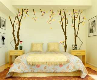 Large Wall Birch Tree Decal Forest Kids Vinyl Sticker Removable leaves
