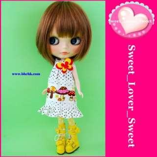 BHC Blythe Doll Outfit Mushroom Mini Skirt Dress Set
