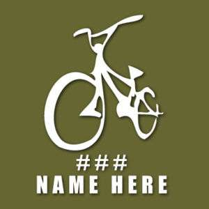 BMX Personalized Bike Custom Vinyl Decal Sticker VLBMX4