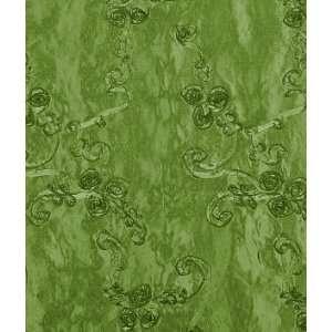 Dark Lime Ribbon Taffeta Fabric: Arts, Crafts & Sewing