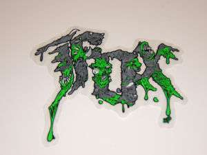MOTOCROSS ATV QUAD SKATEBOARD WAKEBOARD GREEN RABID STICKER DECAL