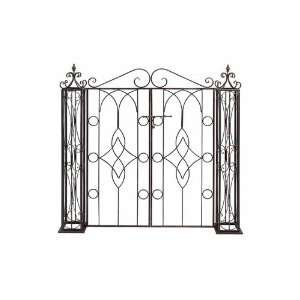 Benzara 66258 Metal Garden Gate Completing  To Garden