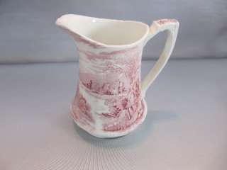 Vintage Alfred Meakin Large Pitcher 32 ounces TINTERN Pink