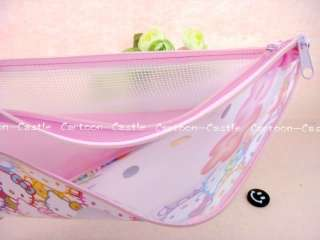 Hello Kitty A4 File Bag Case Organizer Folder 16724