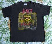 SLAYER Vintage Concert SHIRT 90s TOUR T RARE ORIGINAL Seasons In The