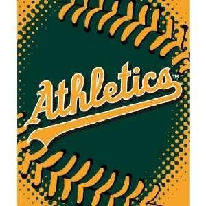 MLB Oakland Athletics Royal Plush Raschel Acrylic Blanket Throw