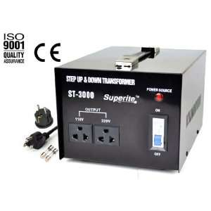 Converter Transformer Step Up/Down   AC 110/220 volt for Worldwide Use