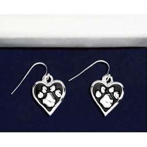 Animal Cause Earrings   Paw Print Heart (Retail