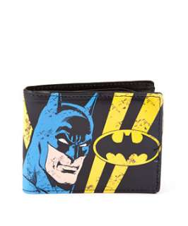 Blue Pattern (Blue) Black Batman Wallet  251764049  New