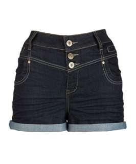 Navy (Blue) Inspire High Waisted Denim Shorts  241476041  New Look