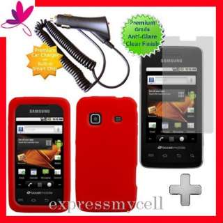 Screen + RED Gel Case Cover for Straight Talk SAMSUNG GALAXY PRECEDENT
