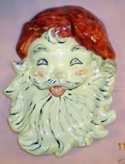 VINTAGE SANTA CLAUS CHRISTMAS PLATE COOKIE DISH SIGNED
