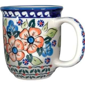 Polish Pottery 12oz Mug   Unique Design # A13: Patio, Lawn