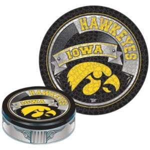 IOWA HAWKEYES OFFICIAL LOGO PUZZLE TIN: Sports & Outdoors