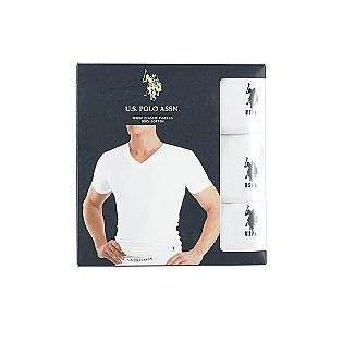 Mens V Neck T Shirt 3 Pack  US Polo Assn. Clothing Mens Underwear