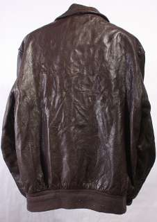 MENS A2/FLIGHT/Indiana Jones COOPER SOFT LEATHER COAT/JACKET sz 42 L