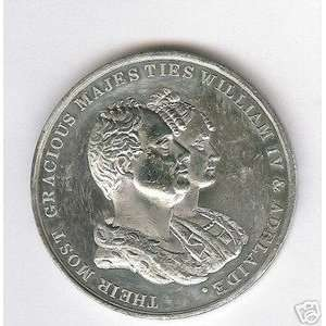 GREAT BRITAIN WILLIAM IV AND QUEEN ADELAIDE MEDAL