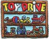 Boy Girl TOY DRIVE Shelf Patches Crests GUIDES/SCOUTS