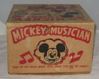 1950s MARX DISNEY MICKEY MOUSE PLASTIC AND TIN WIND UP MICKEY THE