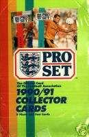 90   91 Pro set Soccer Cards Box