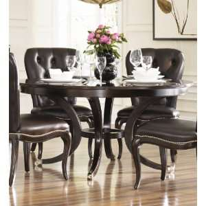 American Drew Sonata Round Formal Dining Table in Dark