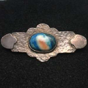 Hammered Sterling Silver Arts & Crafts Period Pin