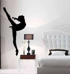 Ballet Ballerina Dancer Girl Vinyl Wall Sticker Decal