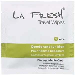 LA FRESH Deodorant Wipes for Men Pre moistened 8 x 6