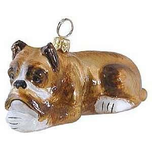 Blown Glass Boxer Ornament
