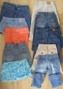 11 JUNIORS Size 0 & 1/2 Jeans/Capri/Shorts/Skort Lot L@@@@KKK!!