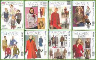 Sewing Pattern Misses Women Coat Jacket + With Plus Size McCalls