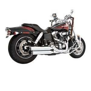 Harley Signature Slip Ons Chrome with Black Tips for 1991