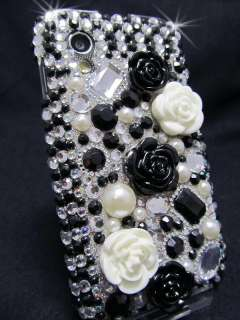Samsung Galaxy Ace S5830 Cover Case Schutz Hülle Strass Perle Rose