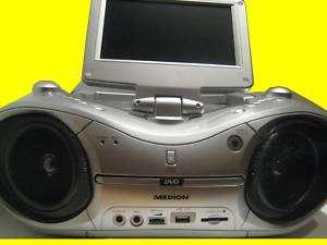 Tragbarer DVD Player Radio System /Karaoke/ 7LCD /18cm